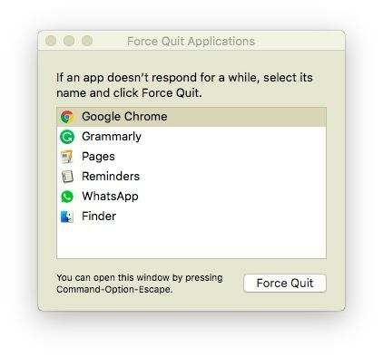 How to Kill/Force Close Apps on Mac