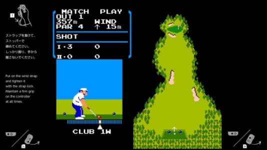 Someone unlocked Switch's hidden NES Golf game