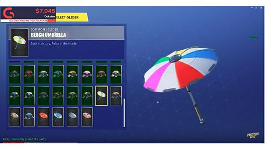 Legendary Winner Beach Umbrella Drops With Fortnite Season 5
