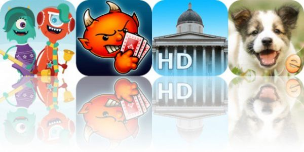 Today's Apps Gone Free: Holiday Jams, Spite and Malice, National Gallery and More