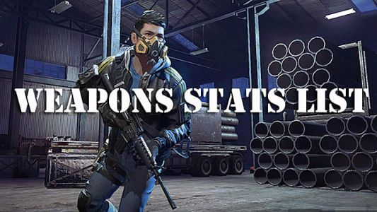 Ring of Elysium Complete Weapons Stats List