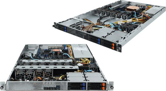 GIGABYTE Launches R161-Series Overclocking Servers: 1U, Core X, Liquid Cooling