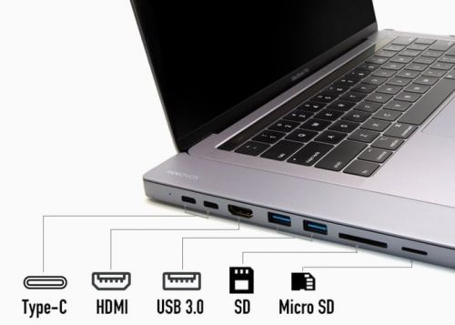 HubCase MacBook Pro protective case with intergrated hub
