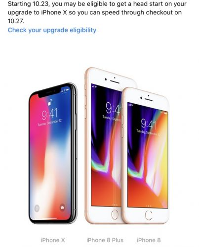 Apple Allowing iPhone Upgrade Program Customers to Get a 'Head Start' on iPhone X Upgrade