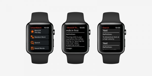 UrbanWatch lets you browse Urban Dictionary on your wrist