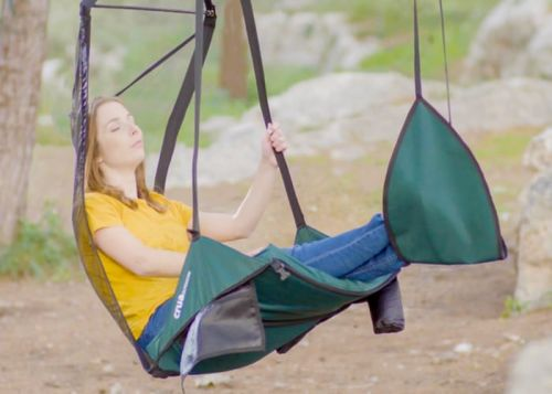 HoverChair hanging chair offers comfort in the outdoors