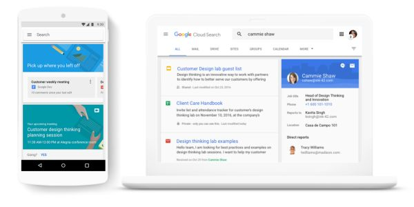 Google Cloud Search for G Suite adds natural language processing for more intuitive lookup