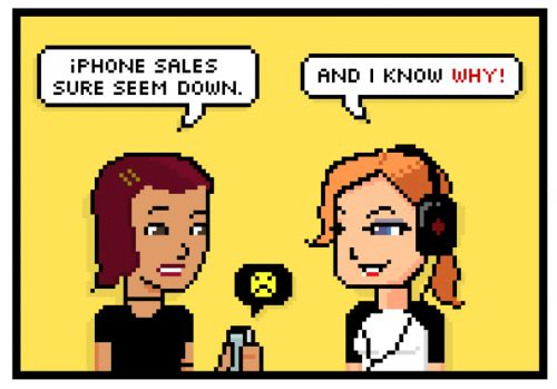 Comic: The Mystery of the Slow iPhone Sales