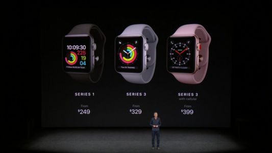Apple Watch Series 3 starts at $329 for WiFi-only and $399 for LTE, pre-order Sept 15