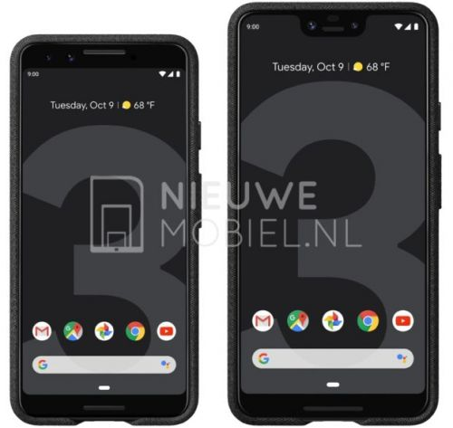 New Leaked Renders Show Google Pixel 3, Pixel 3 XL Together