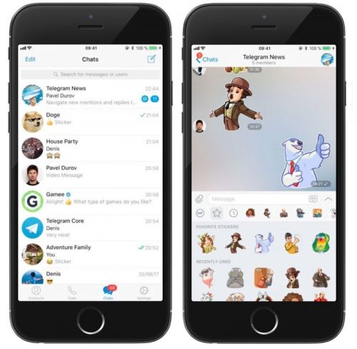 Telegram Chat App Gains Reply/Mention Alerts, Twitch Video Support, and More