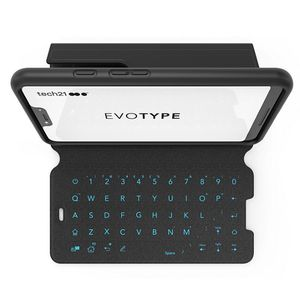 The Evo Type case for Pixel 3 XL features a wireless QWERTY keyboard and adjustable stand