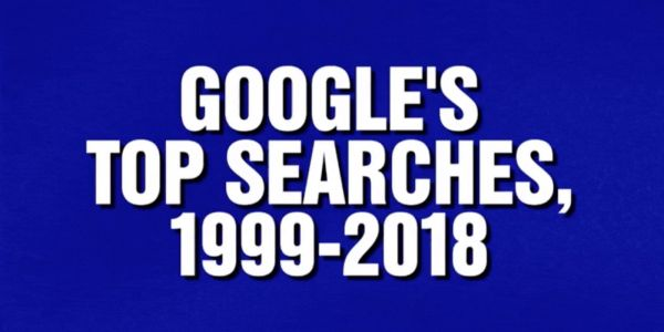 'Google's Top Searches' was a category on 'Jeopardy!' this evening