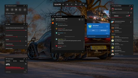 Windows 10's Game Bar gets neat new features including Spotify widget