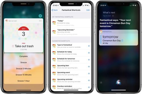 Fantastical 2.10 Introduces Siri Shortcuts and Apple Watch Infograph Support