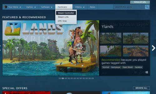Valve wipes Steam Machines hardware section from its store