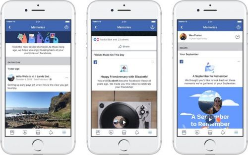 Facebook Launches New 'Memories' Section for Reflecting on Old Photos, Posts and Life Events