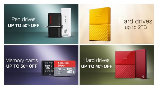 Amazon Great Indian Festival 2017: Best deals on Hard disks, Pen drives and more
