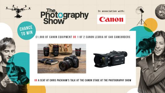 WIN! Enter the Canon prize draw and be in with a chance to win one of these fantastic prizes