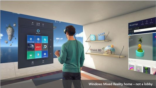 Images show Windows 10's upcoming Mixed Reality Viewer