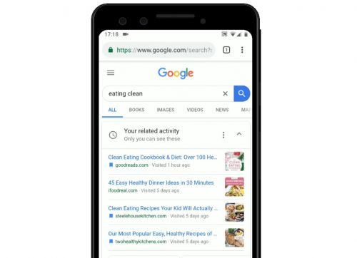 Google Search app adds activity cards to let you pick up where you left off