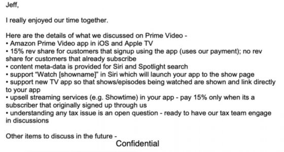 Apple Offered to Halve App Store Fee to Get Amazon Prime Video on iOS and Apple TV