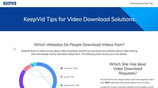 Popular YouTube video downloading site KeepVid is no more