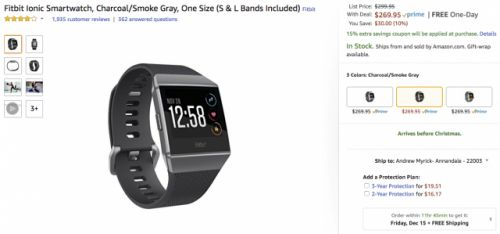DEAL: Save up to $45 on the new Fitbit Ionic smartwatch as it gets its first real discount