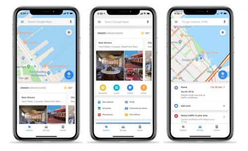 Google Maps for iOS Gains Quick-Access Traffic, Transit, and Local Info Tabs