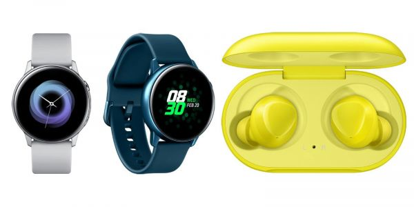 Samsung Galaxy Watch Active leak shows all angles, Galaxy Buds in 'Canary Yellow' color