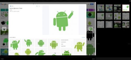 Google Images Testing Mobile-Style UI For The Web