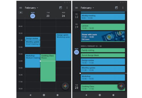 Google Calendar Updated With Dark Mode