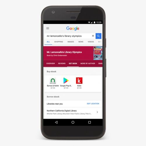Google Search Now Lets You Check The Availability Of E-Books