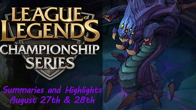 This Week in League of Legends eSports: Summaries and Highlights from the EU and NA LCS Summer Split Finals