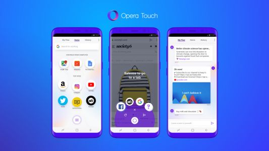 Opera launches a new mobile browser optimized for one-handed use