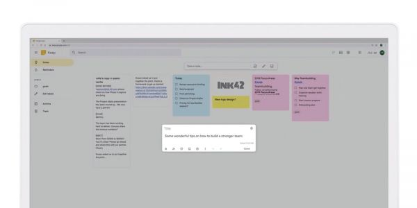 Google Keep on the web gets convenient 'note.new' shortcut