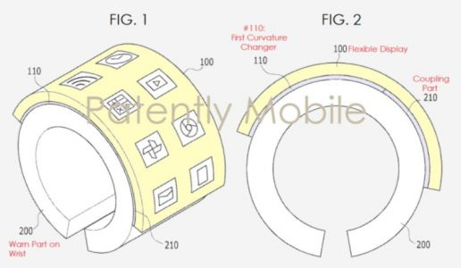 Samsung Patents A Wearable With A Bendable Display Panel