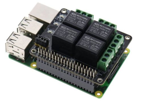 PiRelay Raspberry Pi relay shield can be controlled by your smartphone
