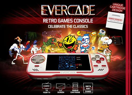 New Retro Console Evercade Goes Old School with Cartridge Compilations