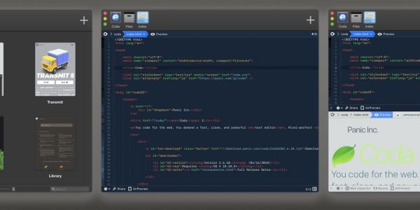 Panic launches Coda 2.7 with Dark Mode, new app icon and appearance, more