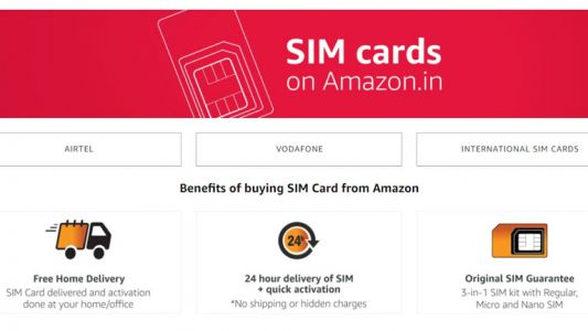 Amazon now delivers SIM cards at your doorstep
