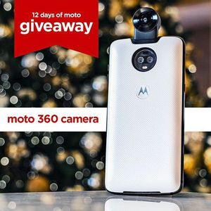 Today's 12 days of Moto giveaway prize is a 360 degree camera Moto Mod
