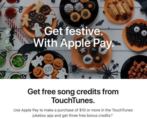 Apple Pay Promotion Offers Free Bonus Credits With $10 TouchTunes Purchase