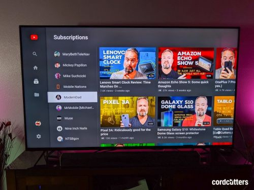 YouTube is now available directly as an app on Vizio's 2019 TVs
