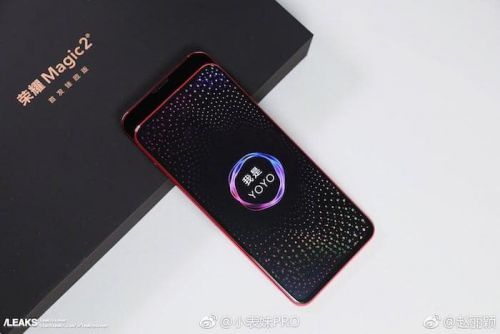 Honor Magic 2 smartphone poses for the camera