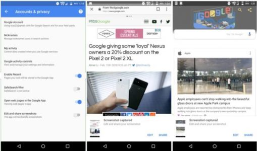 Google App Updated With Screenshot Editing Tools