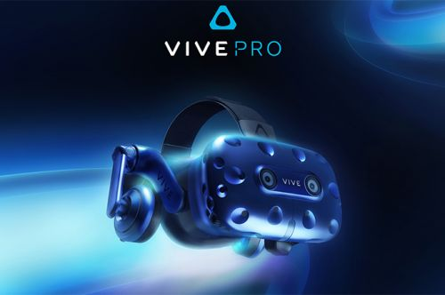 HTC at CES 2018: Vive Pro VR Headset with Higher-Res Displays, Two Cams, Headphones