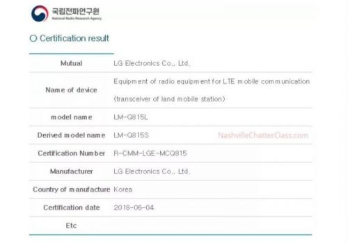 LG Q8 Plus Gets Certified By The KCC & WFA, Coming Soon