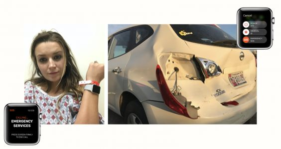 Apple Watch SOS saved a mom and her baby after a drunk driver hit their car