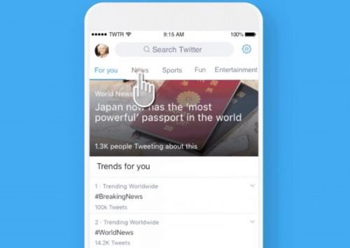 Twitter App's Explore Tab Begins Sorting Trending Tweets by Topic in the U.S